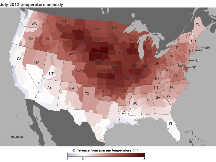 July 2012 Temperature Anomalies